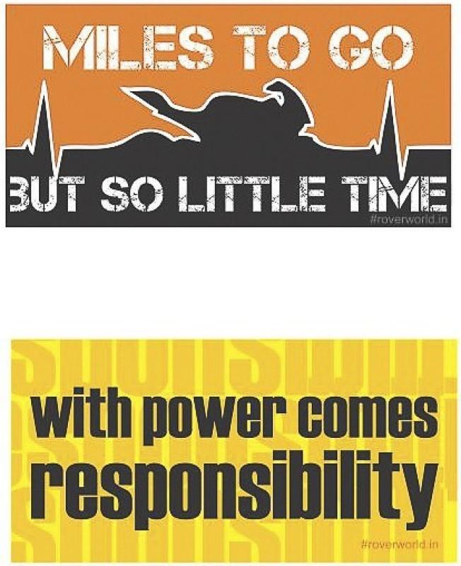 Rover Sticker & Decal for Bike(Orange, Yellow)
