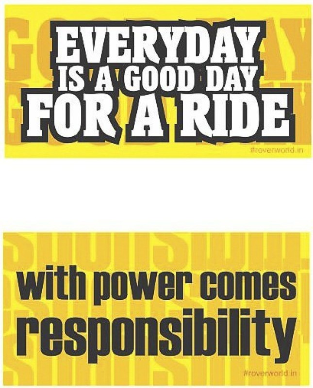 Rover Sticker & Decal for Bike(Yellow)
