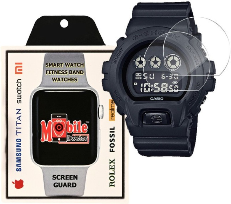 MOBILE DOCTOR Screen Guard for Casio | G-Shock | Special Color Model | DW-6900BB-1(Pack of 3)