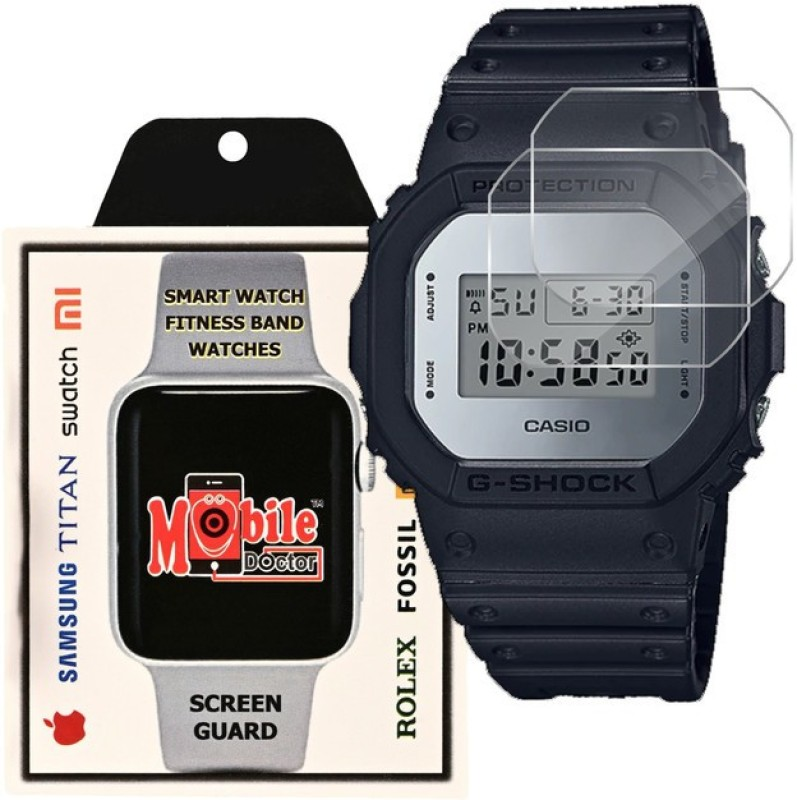 MOBILE DOCTOR Screen Guard for Casio | G-Shock | Special Color Model | DW-5600BBMA-1(Pack of 3)