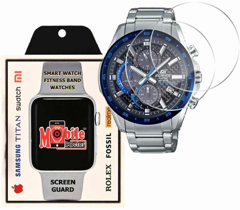 MOBILE DOCTOR Screen Guard for Casio | Edifice | Solar-powered chronograph |EQS-900DB-2AV(Pack of 3)