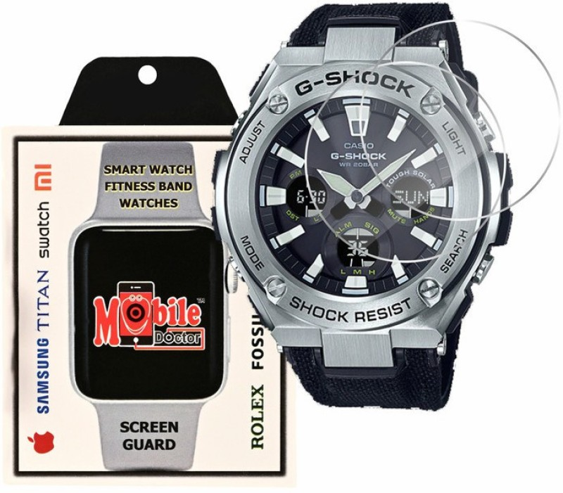 MOBILE DOCTOR Screen Guard for Casio | G-Shock | G-STEEL | GST-S130C-1A(Pack of 3)