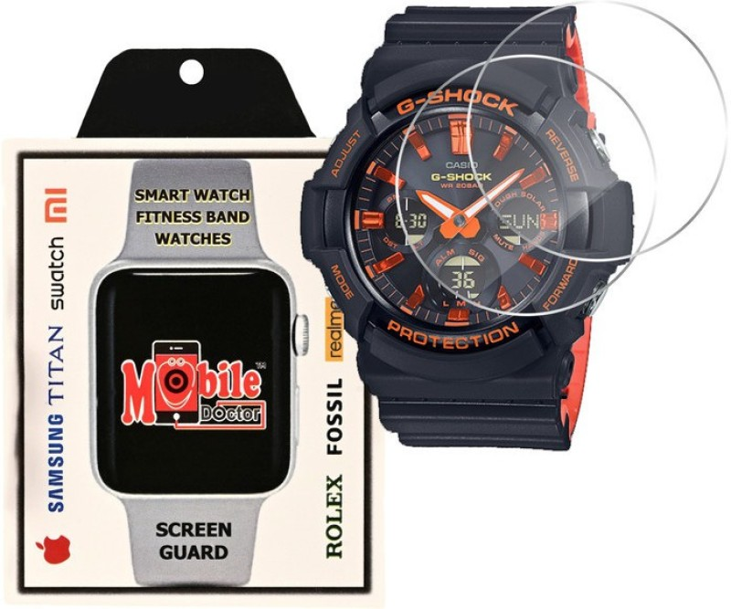 MOBILE DOCTOR Screen Guard for Casio | G-Shock | Special Color Model | GAS-100BR-1A(Pack of 3)