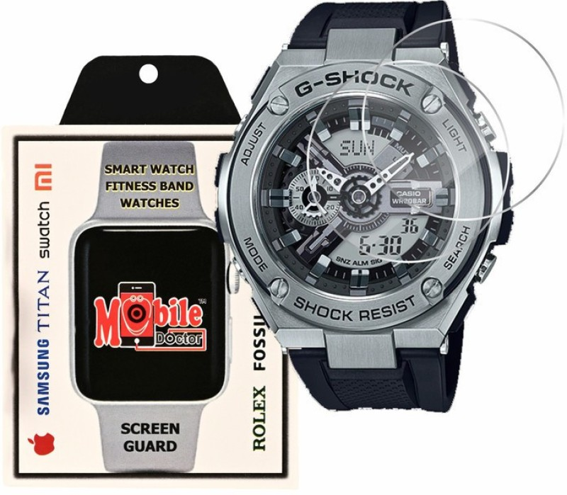 MOBILE DOCTOR Screen Guard for Casio | G-Shock | G-STEEL | GST-410-1A(Pack of 3)