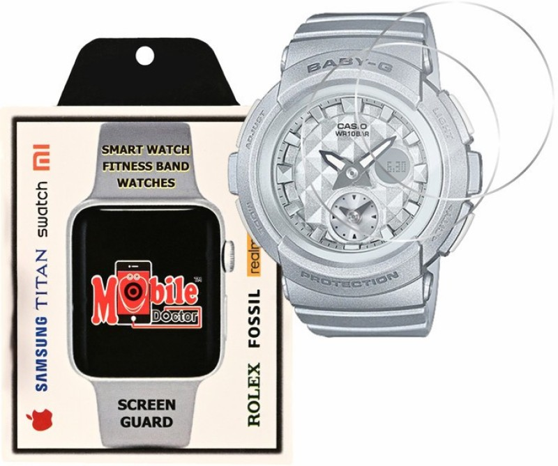 MOBILE DOCTOR Screen Guard for Casio | Baby-G | STANDARD ANALOG-DIGITAL | BGA-195-8A(Pack of 3)