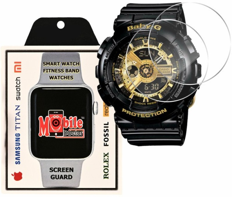MOBILE DOCTOR Screen Guard for Casio | Baby-G | G-Shock Tandem Series | BA-110-1A(Pack of 3)