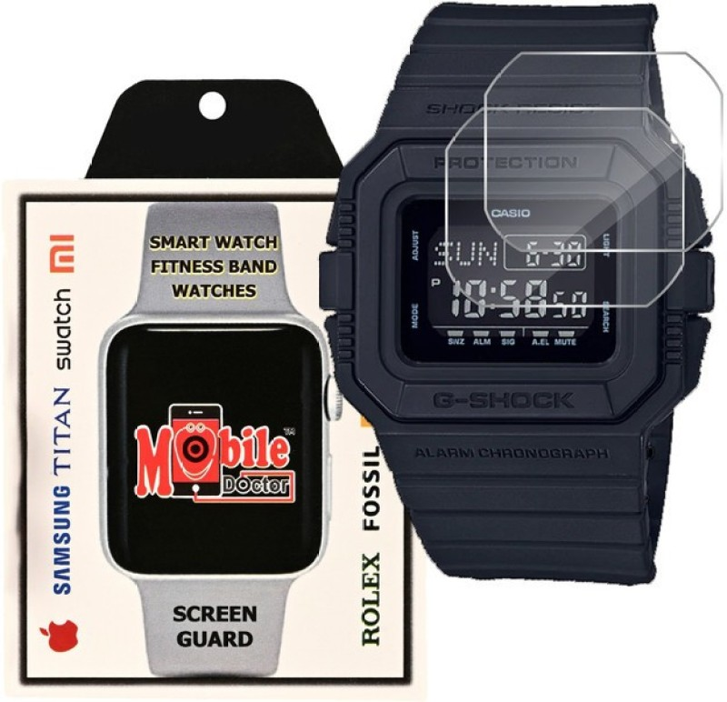MOBILE DOCTOR Screen Guard for Casio | G-Shock | Special Color Model | DW-5600BBM-1(Pack of 3)