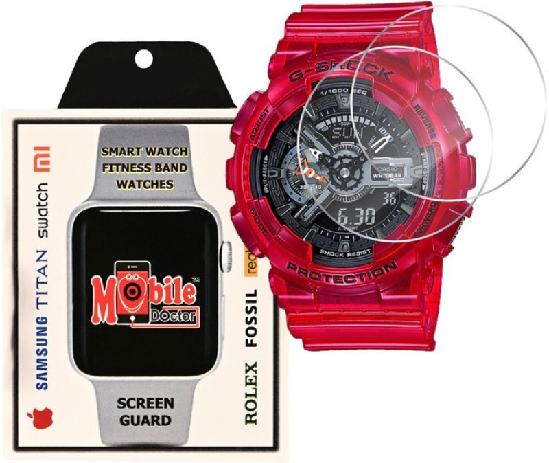 MOBILE DOCTOR Screen Guard for Casio | G-Shock | Special Color Model | GA-110CR-4A(Pack of 3)