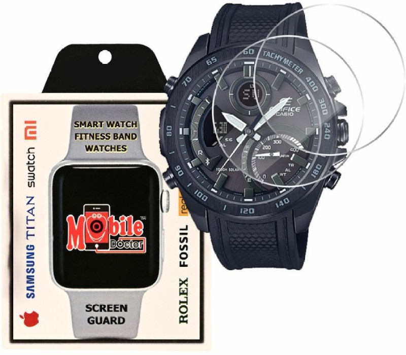 MOBILE DOCTOR Screen Guard for Casio | Edifice | ANALOG-DIGITAL | ECB-900PB-1A(Pack of 3)