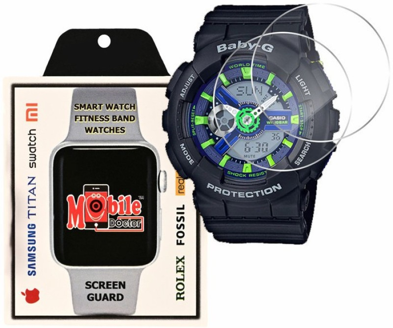 MOBILE DOCTOR Screen Guard for Casio | Baby-G | G-Shock Tandem Series | BA-110PP-1A(Pack of 3)