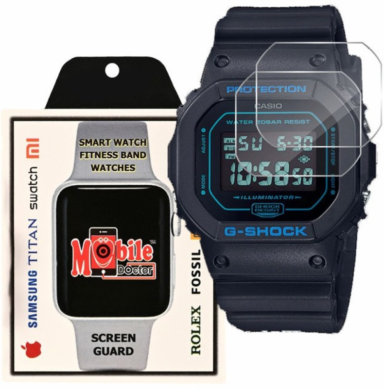 MOBILE DOCTOR Screen Guard for Casio | G-Shock | Origin | DW-5600BBM-1(Pack of 3)