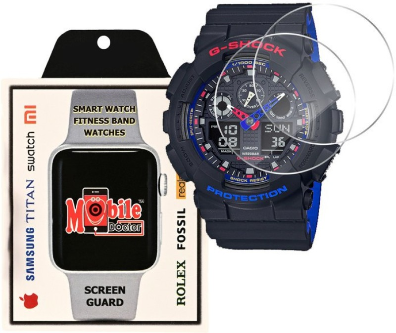 MOBILE DOCTOR Screen Guard for Casio | G-Shock | Special Color Model | GA-100LT-1A(Pack of 3)