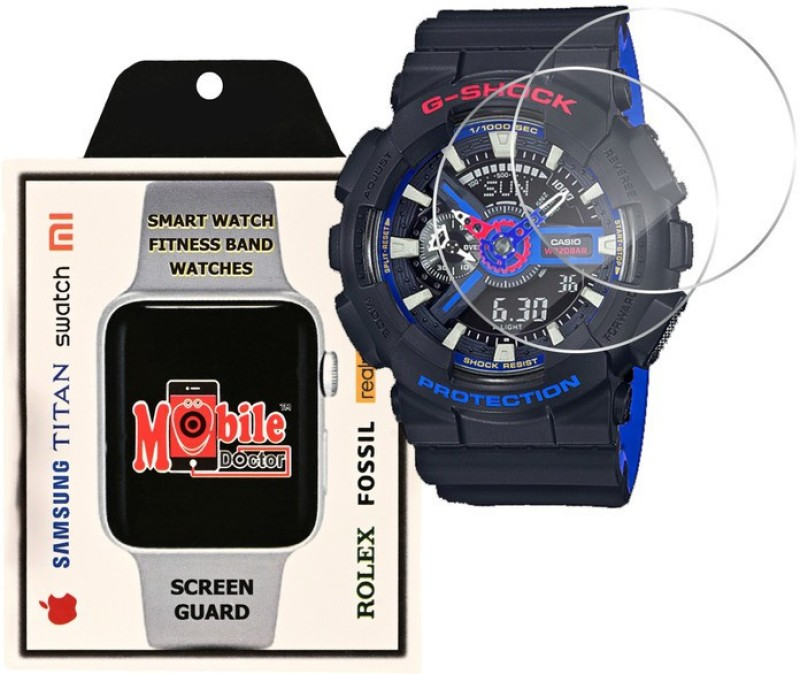 MOBILE DOCTOR Screen Guard for Casio | G-Shock | Special Color Model | GA-110LT-1A(Pack of 3)
