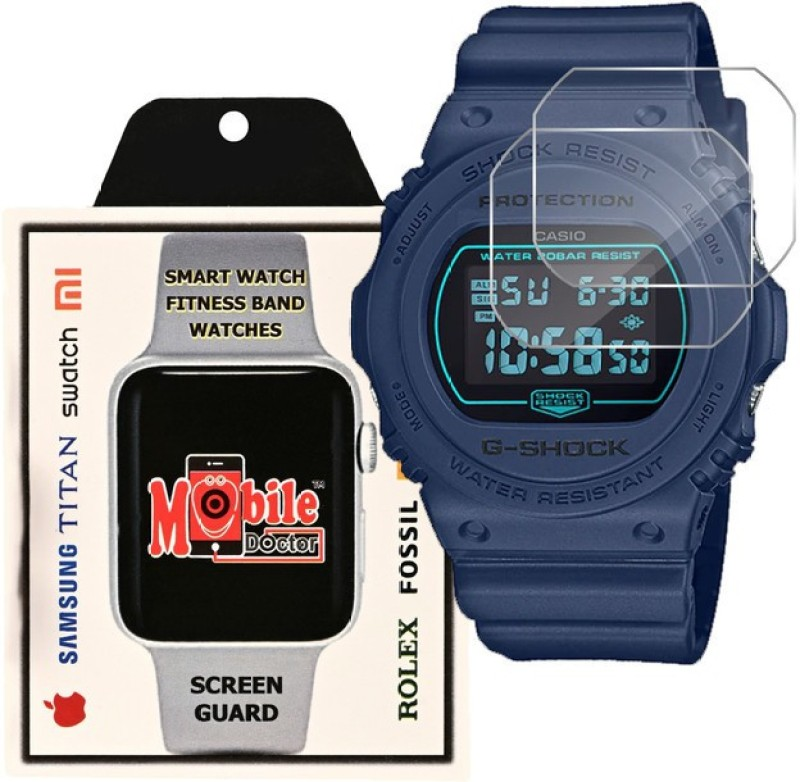 MOBILE DOCTOR Screen Guard for Casio | G-Shock | Special Color Model | DW-5700BBM-2(Pack of 3)