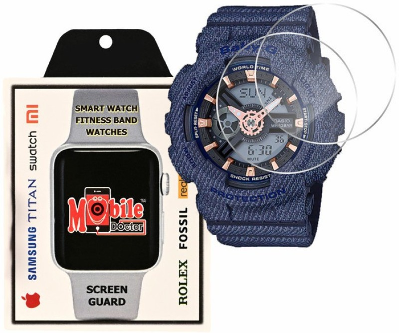 MOBILE DOCTOR Screen Guard for Casio | Baby-G | G-Shock Tandem Series | BA-110DE-2A1(Pack of 3)