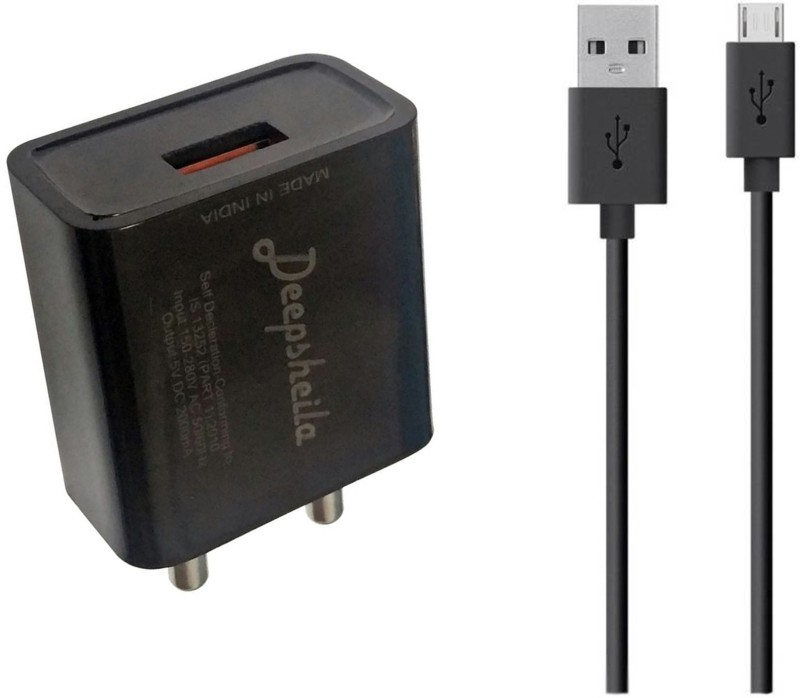 DEEPSHEILA 2A. FAST CHARGER V8 SYNC/DATA CABLE 5 W 2 A Mobile Charger with Detachable Cable(Black, Cable Included)