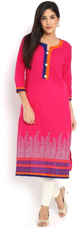 Soch Women Embroidered Straight Kurta(Pink)