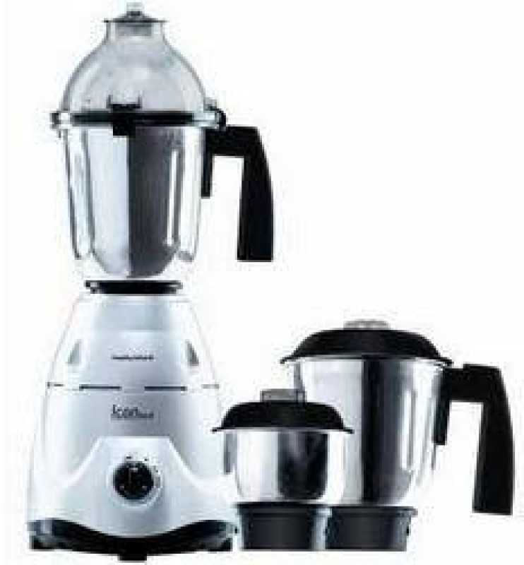 Morphy Richards Icon Delux 600 W Mixer Grinder(Silver, 3 Jars)