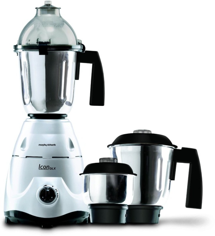 Morphy Richards Icon DLX 750 W Mixer Grinder(Silver, 3 Jars)