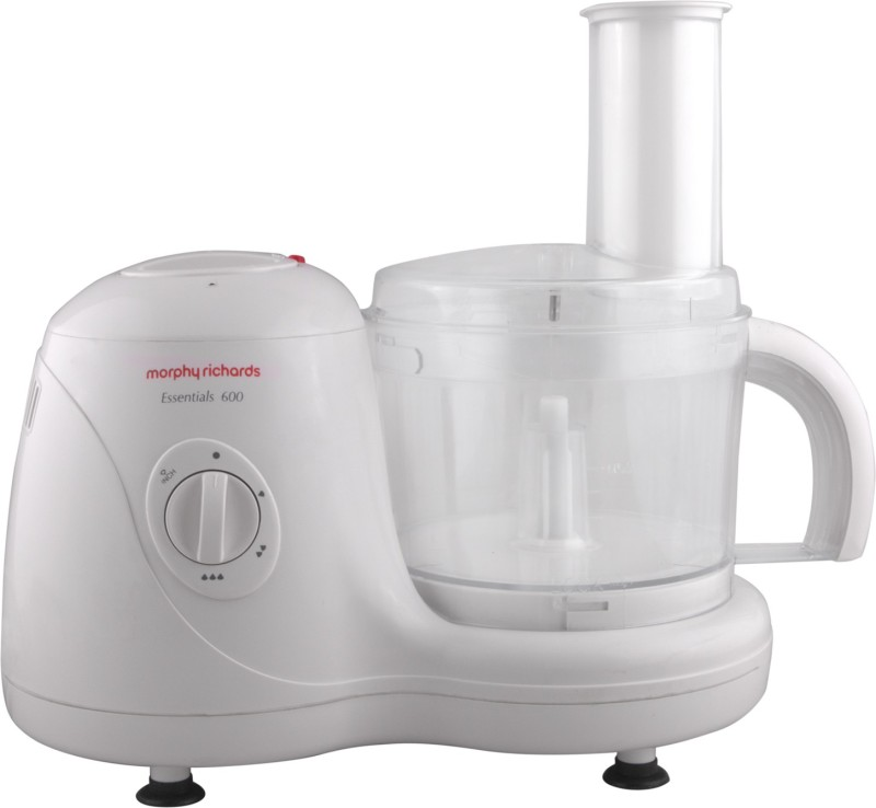 Morphy Richards Essentials 600 Food Processor 600 W Juicer Mixer Grinder(White, 4 Jars)