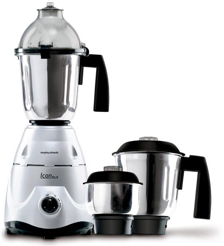 Morphy Richards Icon DLX 600 W Mixer Grinder(Silver, 3 Jars)