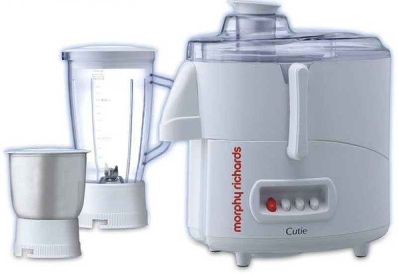Morphy Richards Cutie 500 W Juicer Mixer Grinder(White, 2 Jars)