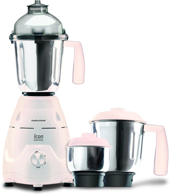 Morphy Richards 640016 Icon Essential 600 W Mixer Grinder(White, 3 Jars)