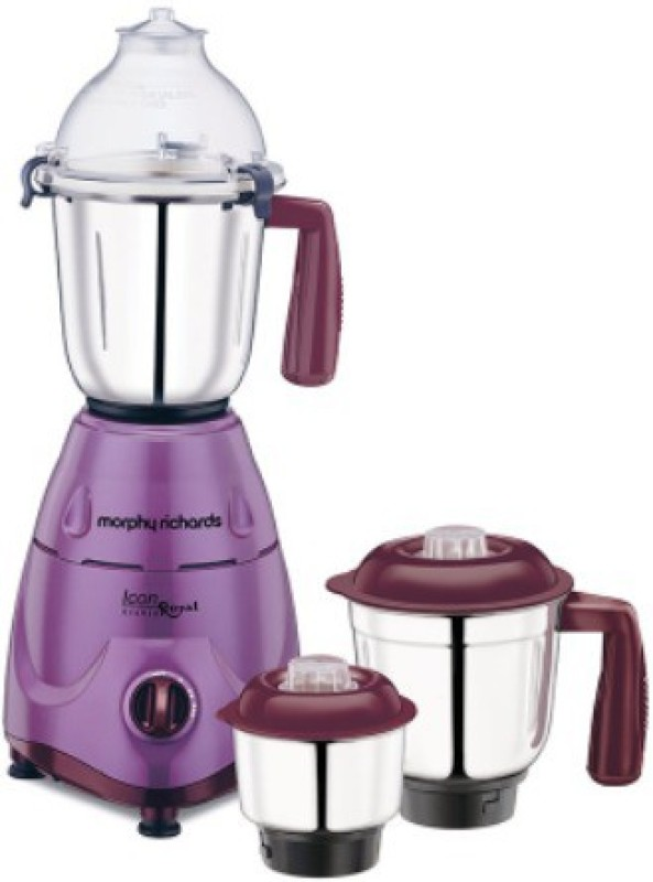 Morphy Richards ICON Icon Royal - Orchid 600 W Mixer Grinder(Orchid, 3 Jars)