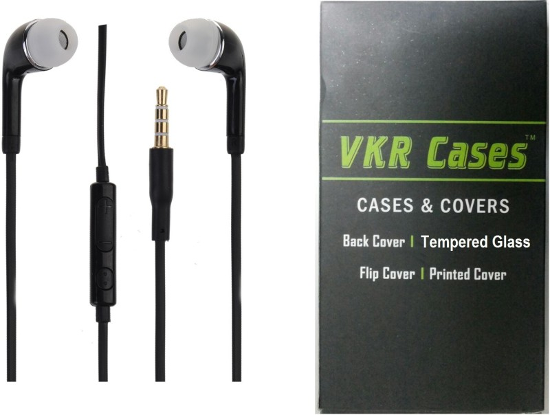 VKR Cases Headset Accessory Combo for Samsung Galaxy J7 2016(Black, Transparent)