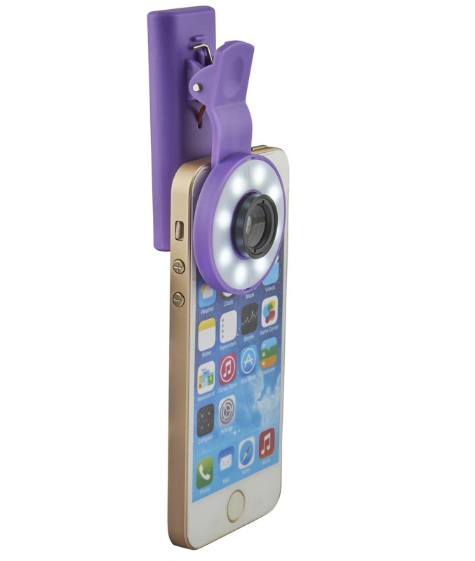 Smiledrive 2 IN 1 SELFIE LENS WITH INBUILT FLASH LIGHT - CLIP IT ON YOUR PHONE Mobile Phone Lens
