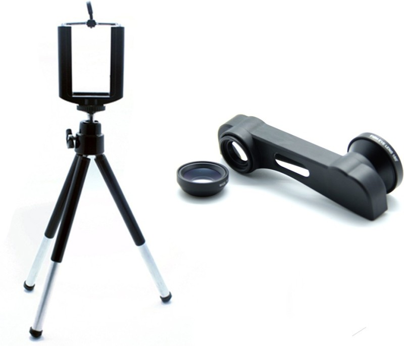 Smiledrive Top 3IN1 Cap Lens with Mobile Tripod Iphone 6+, 6+ S Mobile Phone Lens
