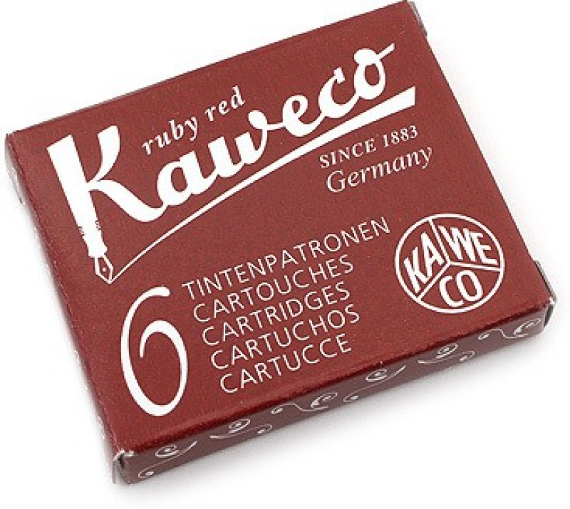 Kaweco Ruby Red Ink Cartridge(Pack of 6)