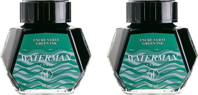 Waterman Green ( Set of 2) Ink Bottle(Pack of 2)