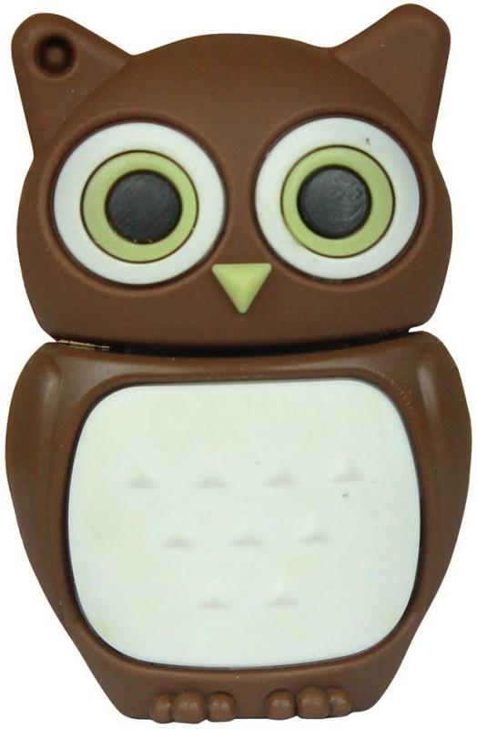 Zeztee Brown Owl Cartoon Character Shape 8 GB Pen Drive(Multicolor)
