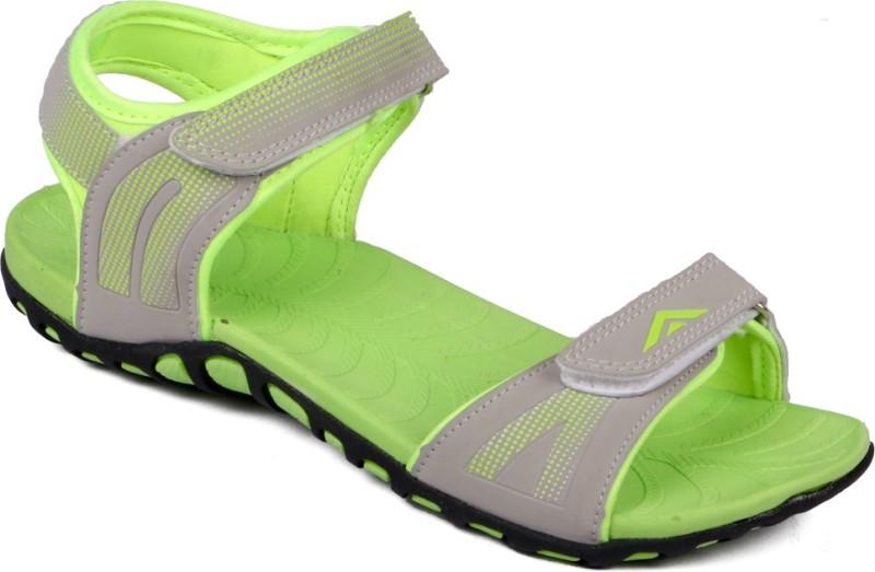 Asian Women Grey, Green Sports Sandals