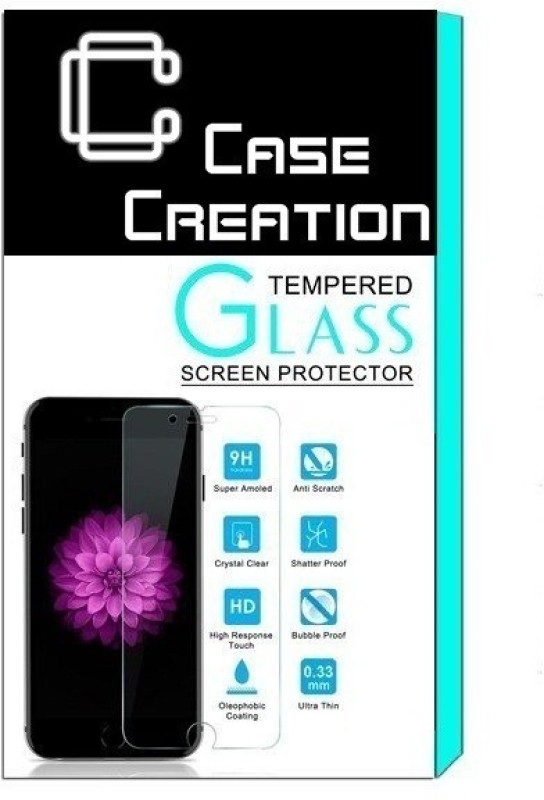 Case Creation Tempered Glass Guard for Infocus M2 Mobile(Pack of 1)