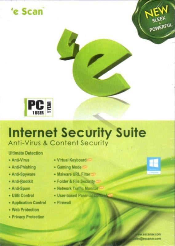 ESCAN Internet Security 1.0 User 1 Year(CD/DVD)