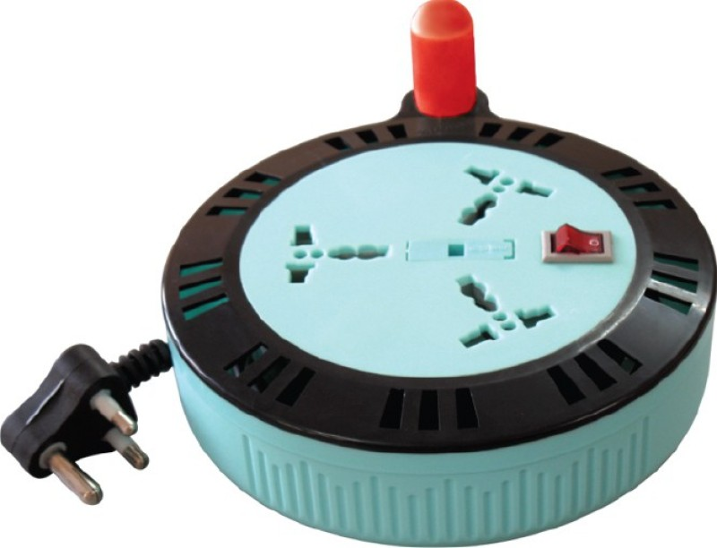 MX EXTENSION BOX WITH FUSE - 6 MTR'S 3  Socket Extension Boards(Multicolor)