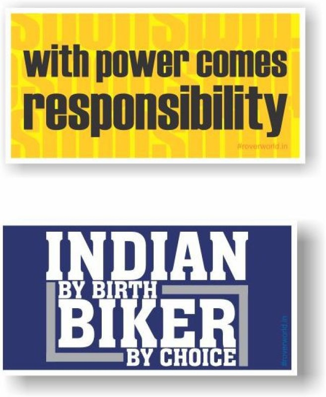 Rover Sticker & Decal for Bike(Yellow, Blue)