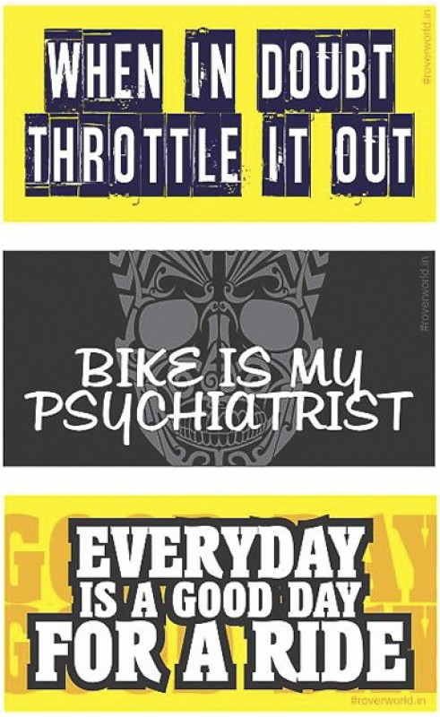 Rover Sticker & Decal for Bike(Black, Yellow)