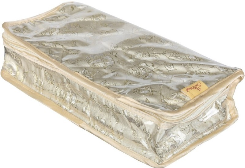 SuiDhaga Jewellery Kit 8 Pockets Jewellery Box Vanity Box(Cream)